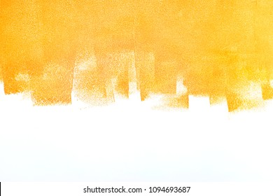bright orange painted wall. apartment and home renovation concept
