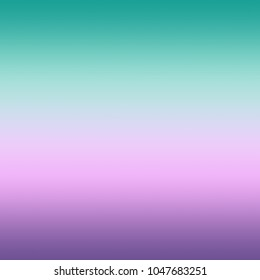 Bright Pastel Mint Pink Ultra Ultra Violet Blurred Gradient Minimal Background Trendy Color of the year 2018. Abstract Purple Green Template for graphic or web design, poster, brochure Copy space
