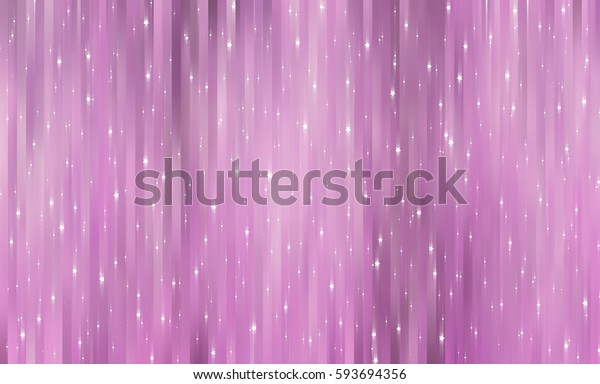 Bright pink illustration with abstract shiny background with stars.