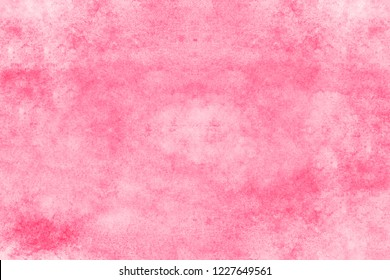Bright pink watercolor background. Aquarelle paint paper texture stain element for design, cards, templates. Vivid magenta color handmade illustration
