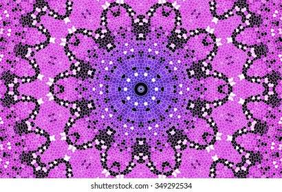 Bright Pink Lilac Background With Abstract Mosaic Pattern