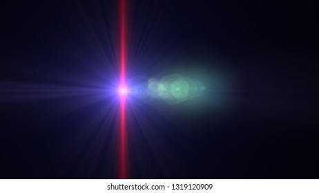 bright red lensflare