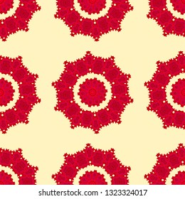 Bright seamless floral pattern