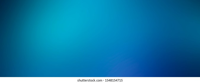 Bright simple empty abstract blurred blue background