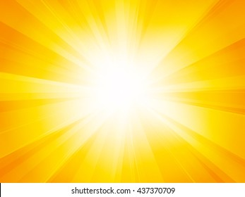 Bright sun background with rays