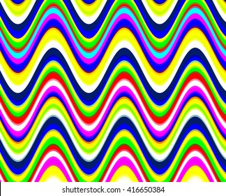 Bright vibrant colors digital waves pattern.