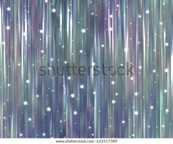 Bright vintage illustration with abstract shiny background with stars.