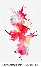 Brighta abstract watercolor splash on white textured paper