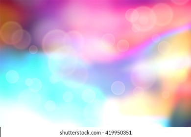 Brightly colored abstract with bokeh circles