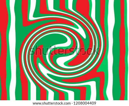 Brightly coloured abstract paint swirl in candy cane red, white, and green.  Groovy, psychedelic Christmas background.