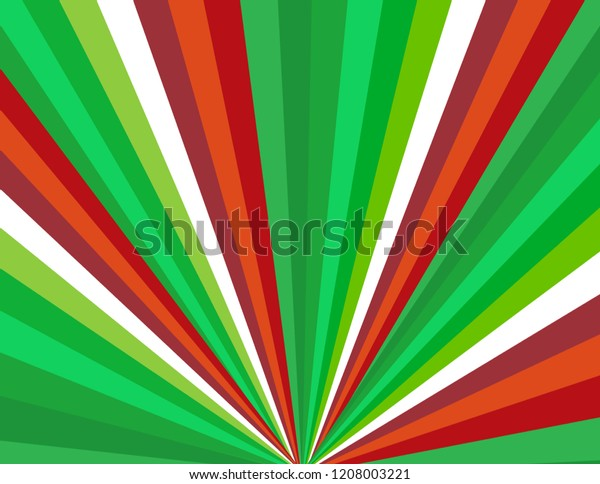 Brightly coloured candy cane perspective bursting red, green, and white Christmas background.