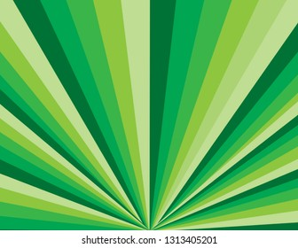 Brightly coloured green perspective St. Patrick's Day background.