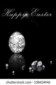 Brilliant Easter Egg is an elegant diamond jewelry illustration on a black background.