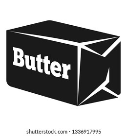 Briquette butter icon. Simple illustration of briquette butter icon for web design isolated on white background