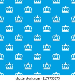 Britain crown pattern seamless blue repeat for any use
