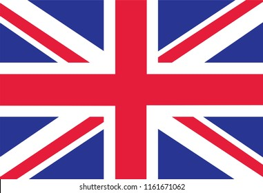 British Flag as Background. Flag of Great Britain. illustration