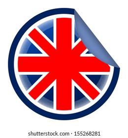 British flag styled sticker
