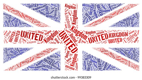 British National Country Flag Symbol info-text graphics and arrangement concept on white background