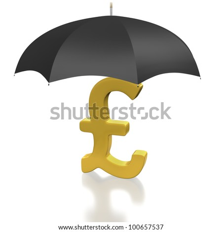 British Pound Symbol Covered By Protecting Stock Illustration