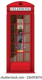British Red Telephone box.