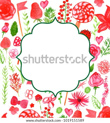 Brochure Design Background Flyer Or Birthday Invitation Card Template Layout With Flowers Berry