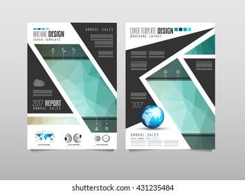 Brochure Template Flyer Design Depliant Cover Stock Vector Royalty