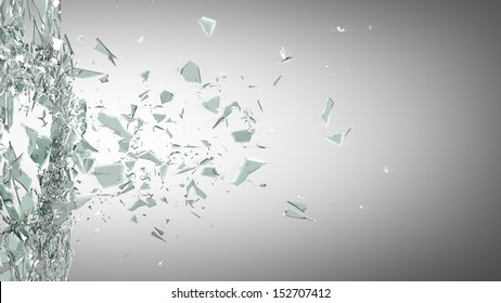 broken glass background. High resolution 3d render