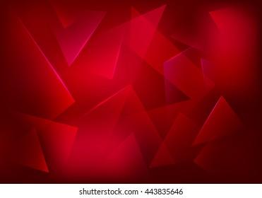 Broken Glass Ruby Background. Red Decorative Banner. Explosion, Destruction Cracked Surface Illustration.