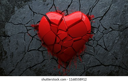 Broken Heart (3D Rendering)