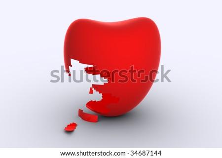heart broken love message