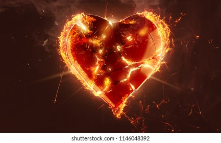 Heart On Fire Images Stock Photos Vectors Shutterstock