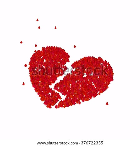 Royalty Free Stock Illustration Of Broken Heart Symbol Glyph Out