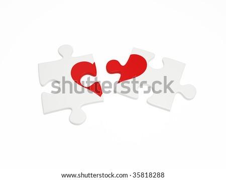 Broken Puzzle Parts Heart Stock Illustration 35818288 - Shutterstock