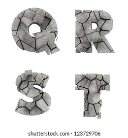 Broken Stone Font