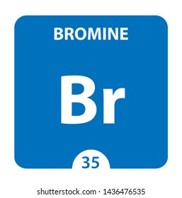 Bromine Chemical 35 element of periodic table. Molecule And Communication Background. Chemical Br, laboratory and science background. Essential chemical minerals and micro