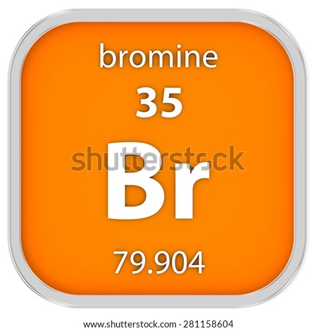Bromine Material On Periodic Table Part Stock Illustration 281158604