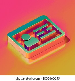 Bronze Id Card Icon on Candy Style Yellow and Yellow Background. 3D Illustration of Business Card, Id Card, Identity Card, Membership Icons for Presentation.
