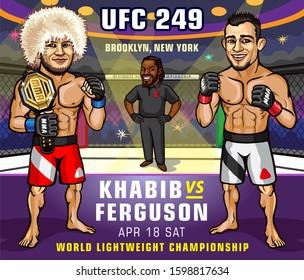 Brooklyn, New York, United States. April 18, 2020. UFC 249: Khabib vs. Ferguson is an upcoming mixed martial arts event.