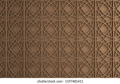 Brown 3d wall for background, backdrop, interior wall