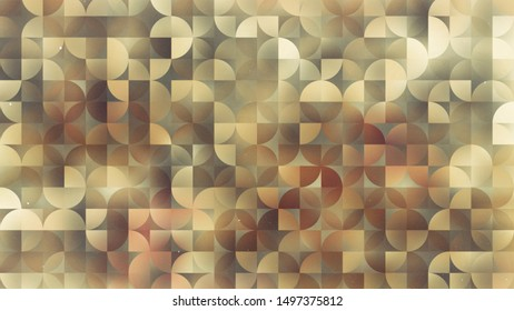 Brown Abstract Quarter Circles Background Image