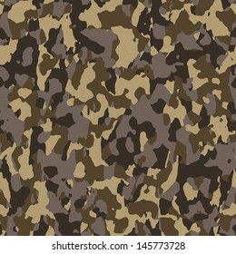 Brown army camouflage texture that tiles seamlessly as a pattern in any direction.