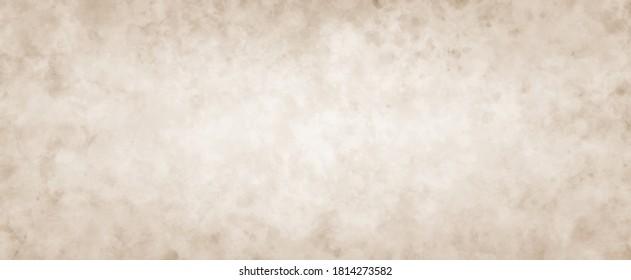 brauner Hintergrund mit weißer Textur und bedrückter Vintage-Grunge und unscharfe Aquarellfarbenflecken in alter Vintage-Papiergrafik, antike sepia-braune Farbe