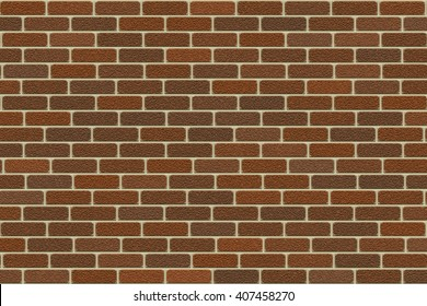 Brown brick wall seamless, abstract background, digital art work.