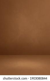 Brown concrete interior background. Empty template scene