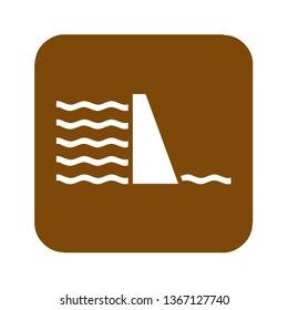 Brown dam recreational sign