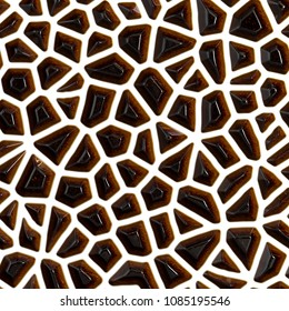 Brown gemstones 3d pattern, background
