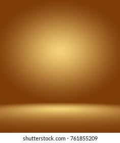 brown gold gradient studio room backgroud