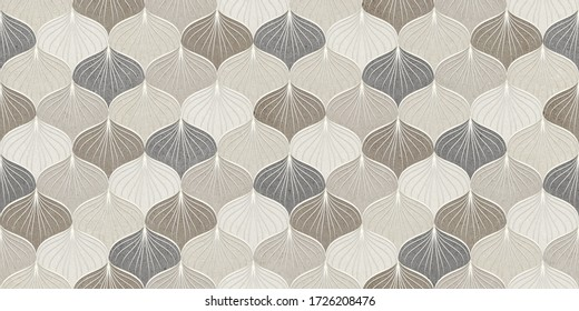 brown and ivory color shell pattern for wall tiles and wallpaper design