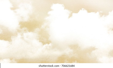 Brown paper cloud texture background.