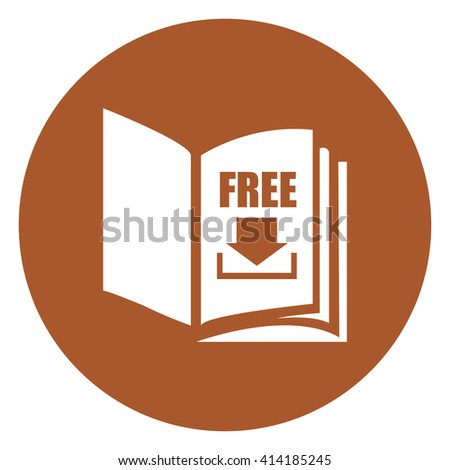 brown simple circle open book free stock illustration 414185245